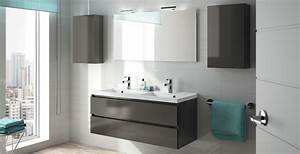 badkamermeubel alma allibert belgique With salle de bain design avec evier graphite