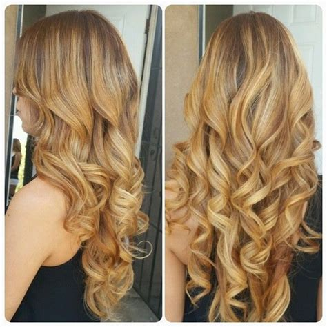 iron hair style highlights and low lights big barrel curling iron