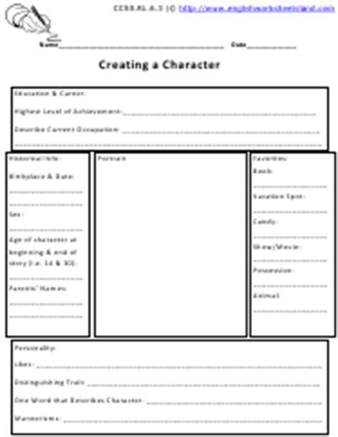 character development worksheets