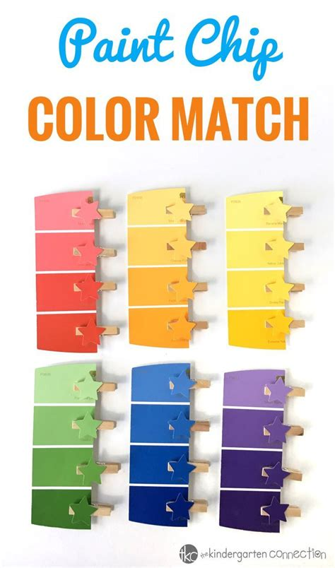 motor paint chip color matching activity for preschool kindergarten the best toddler