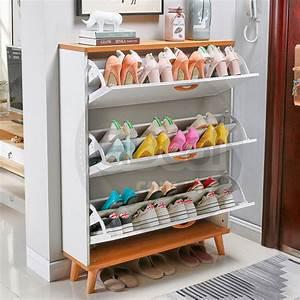 Gte, Simple, Modern, Economical, Ultra, Thin, Wooden, 24cm, Width, Shoe, Cabinet, Storage, Rack