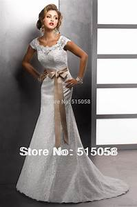 vintage style cap sleeves bateau neck lace covered back With covered back wedding dress