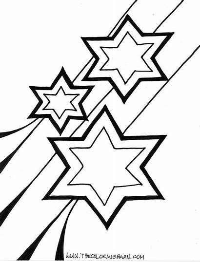 Coloring Stars Star Pages Shooting Printable Clip