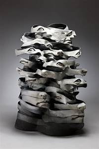 ceramic sculptures that unravel before your colossal