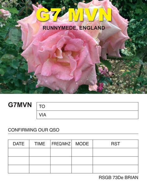 radio amateur qsl card printers uk examples  printed