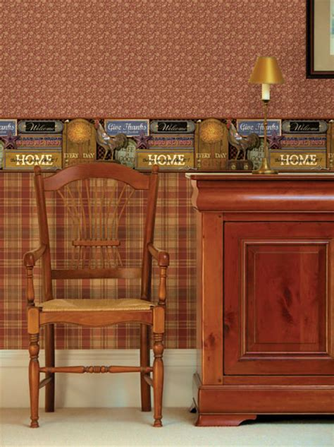 country kitchen brewster country plaid wallpaper wallpapersafari 2739