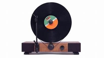 Record Records Turntable Floating Kickstarter Device Vertically
