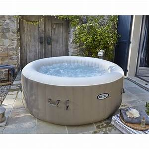 Spa Gonflable INTEX Pure Spa Bulles Rond 4 Places Assises