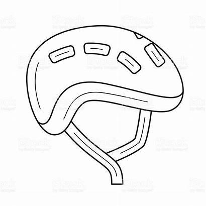 Helmet Coloring Bike Motorcycle Pages Bicycle Line