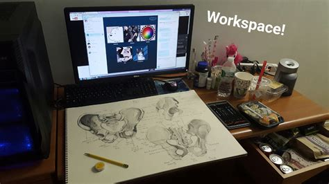 desk for digital artist art workspace by ezpups on deviantart