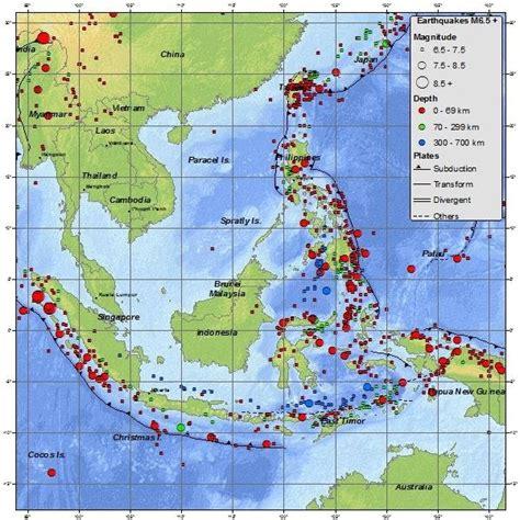 seismicity map left  seismic hazard map