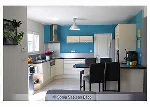Emejing mur de cuisine peint en bleu contemporary for Couleur peinture salon zen 11 bleu 12 couleurs pour repeindre chez soi cate maison