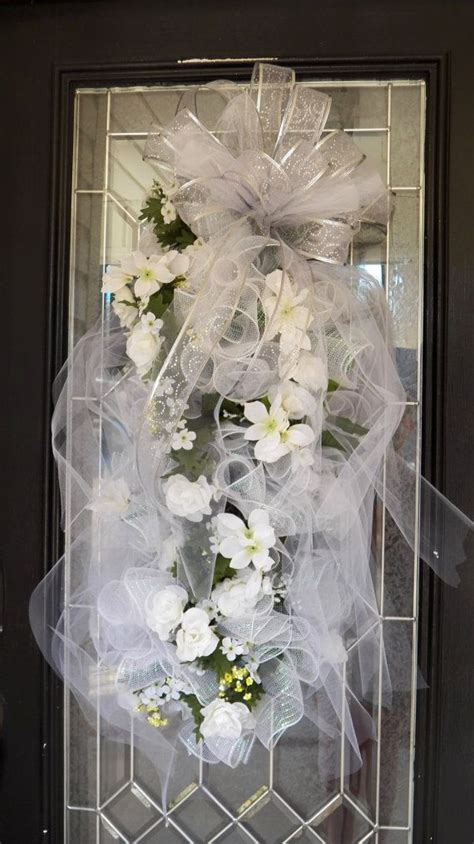 Huge White Wedding Swag Bridal Shower Wreath By