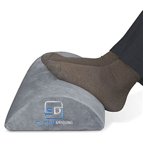 ethereal designs office foot rest desk firm foam cushion ergonomic footrest with non