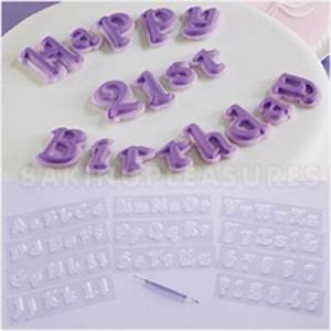 wilton letters numbers gum paste fondant moulding set With wilton letters