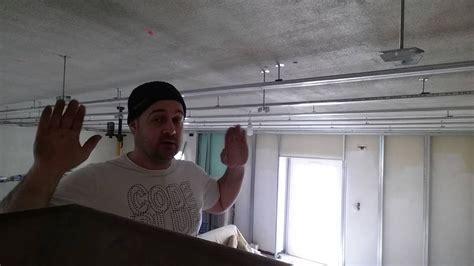 plafond placo sous hourdis beton en suspente  bascule