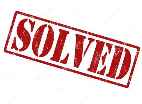 Solved Stamp — Stock Vector © Roxanabalint #32001975