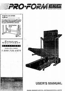 Proform 831297880 User Manual Treadmill Manuals And Guides