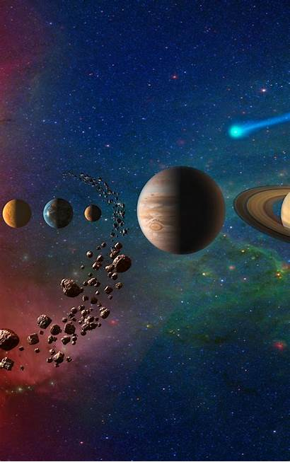 Planets Solar Galaxy System Iphone 4k Space
