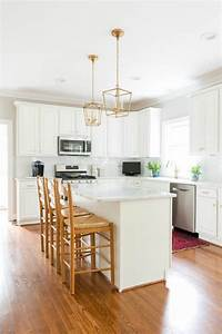 Our White And Gold Kitchen Makeover Laura Trevey Home