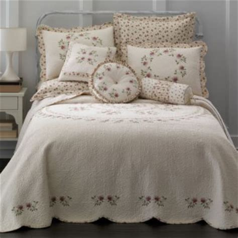 jcpenney quilted bedspreads home expressions lynette embroidered bedspread multi