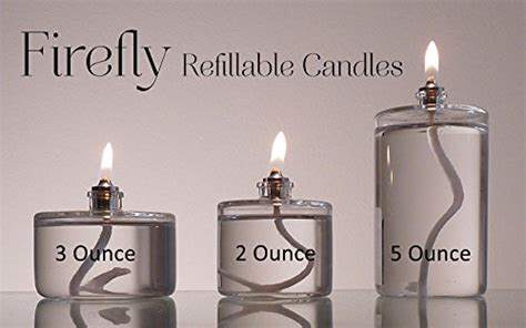 Firefly 3-ounce Refillable Glass Liquid Candle