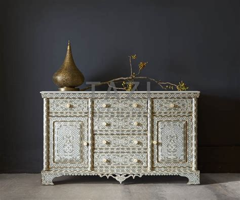 syrian wood inlay cabinet tazi designs