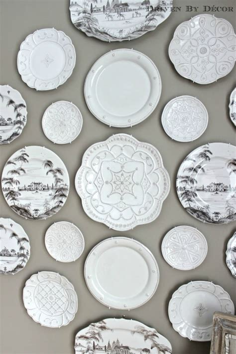 decorative plate wall   dining room driven
