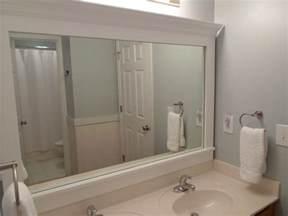Framing Bathroom Mirror Ideas Cheriesparetime Frame A Mirror With