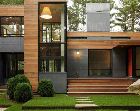 rumah kayu minimalis  kombinasi modern dinerbacklot