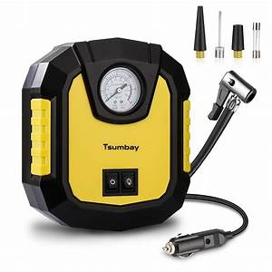 New Tsumbay Dc 12v Electric Tyre Inflator Digital Portable