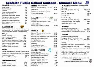 school canteen menus google search hpe pinterest With canteen menu template