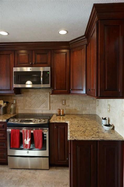lights in kitchen best 25 cherry cabinets ideas on cherry 3788