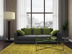 37 idees de salon vert entre elegance et nature With tapis ethnique avec canapé vert pomme