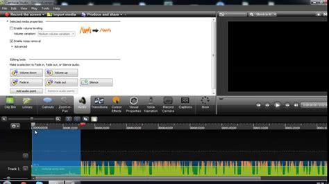 como quitar el ruido de fondo  camtasia studio  youtube