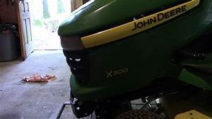 John Deere X300 Transmission Oil Change