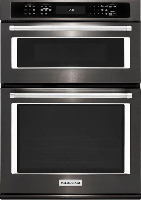 kitchenaid  black stainless wall oven koceebs