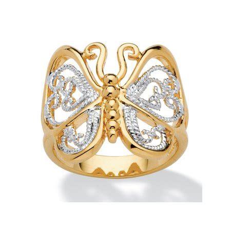 palmbeach jewelry filigree butterfly ring in 18k gold