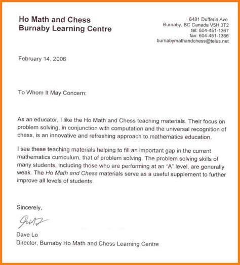 testimonial letter samples