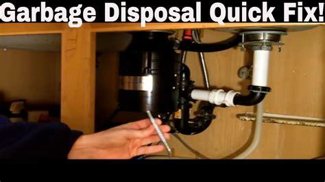 garbage disposal repair quick fix youtube