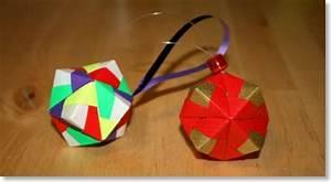 Origami Boule De Noel : d co de no l boule de no l senbazuru vid os pour apprendre l 39 origami ~ Farleysfitness.com Idées de Décoration