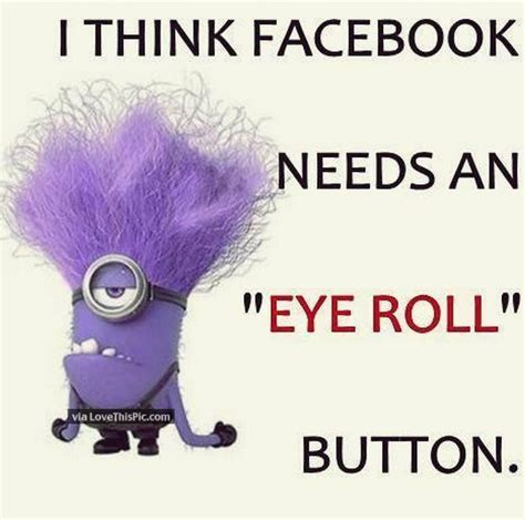 facebook   eye roll button pictures