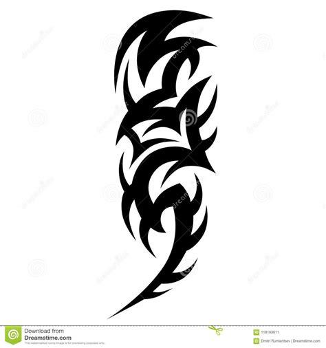 tattoo tribal vector design sketch sleeve art abstract pattern arm stock vector illustration