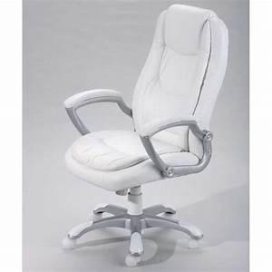 Fauteuil De Bureau Cuir Blanc Fauteuil Bureau Confortable