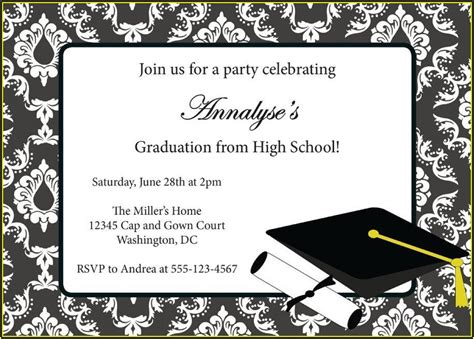 grad party announcement template template  resume