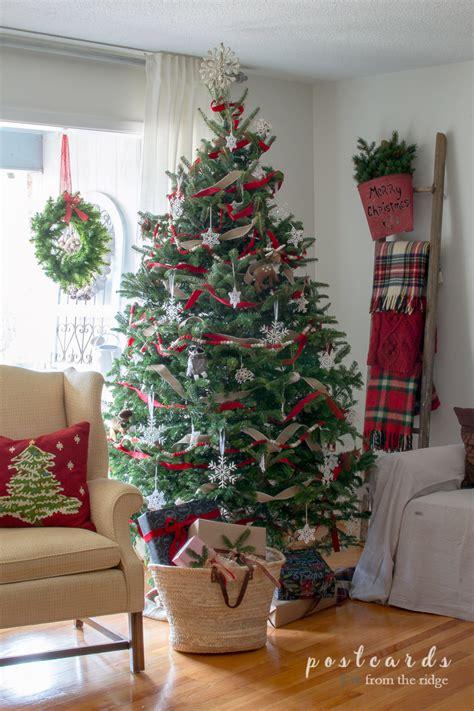snowflake christmas tree postcards   ridge