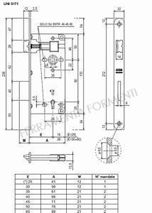 serratura per porta legno AGB B00591