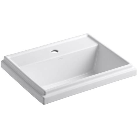 kohler tresham drop in vitreous china bathroom sink in white with overflow drain k 2991 1 0