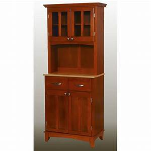 Home Styles Small Buffet With Two Glass Door Hutch