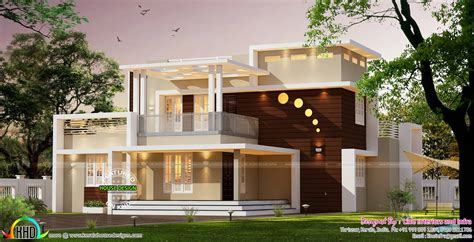 contemporary style home architecture 3000 sq ft kerala